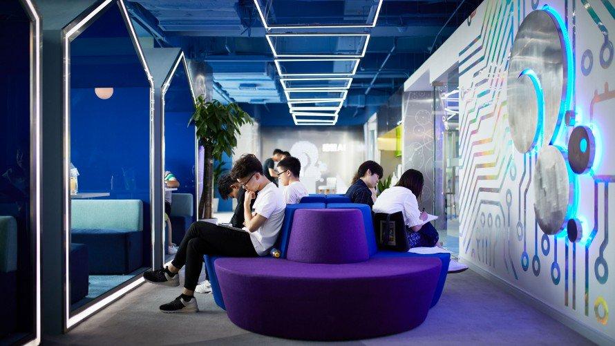 Trụ sở của Squirrel AI ở Thượng Hải.  _NOAH SHELDON_