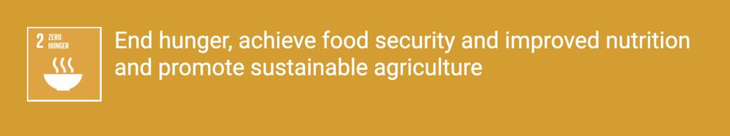 Mục tiêu số 2: Không còn nạn đói