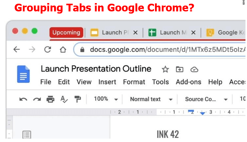 Google Chrome users can label tab groups with a custom name, color or emoji.